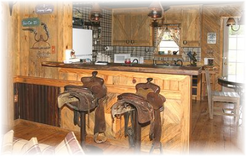 Theme Once You Step Into The Ranch House You Have Stepped Back Into The Old West Days The Awesome Saddle Bar Stools Is Just A Hint Of The Very